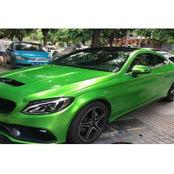 汽车改色亚光绿、汽车 膜术师、重庆汽车改色图片