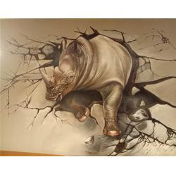 餐厅手绘文化墙|火星墙绘公司|武汉手绘文化墙图片