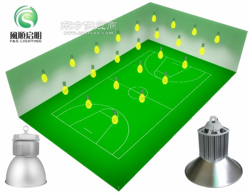 室内篮球场照明方案设计图片