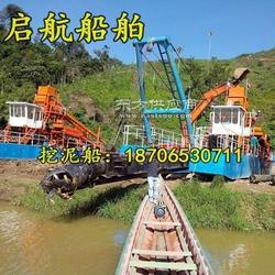生产抽淤泥清淤船的厂家在哪 制造河道清淤船的公司图片