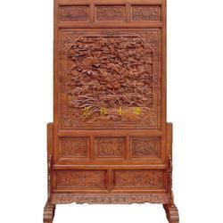 木雕屏风、艺修木艺(在线咨询)、北京木雕屏风图片