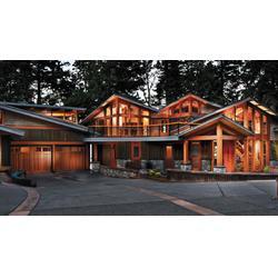 唐山木制别墅材料材质,固森防腐木,木制别墅图片