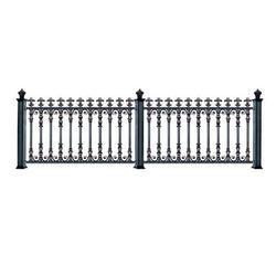 铝艺栏杆哪家好、鸿盈金属定制、盐城铝艺护栏图片