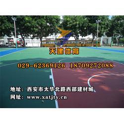 塑胶球场施工、陕西塑胶球场施工、天建体育(优质商家)图片