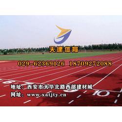 渭南塑胶跑道厂家|天建体育|塑胶跑道厂家图片