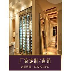 东营不锈钢酒柜、定制不锈钢酒柜、现代不锈钢酒柜图片