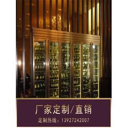 不锈钢酒柜厂家|鞍山不锈钢酒柜|餐厅不锈钢酒柜图片