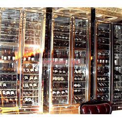 澳门不锈钢酒柜-钢之源金属制品-不锈钢酒柜案例图片