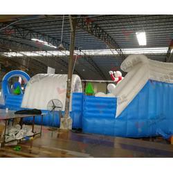充气水上蹦床设计方案-福州充气水上蹦床-乐弘气模客户评价很高图片
