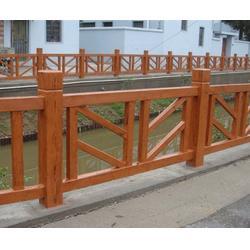 南通仿木栏杆,@神斧景观质量可靠,园林仿木栏杆图片