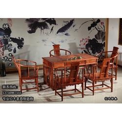 大红酸枝红木茶桌|横国红木专业生产厂家|永康红木茶桌图片