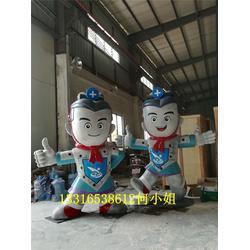 特色兵马俑玻璃钢卡通吉祥物雕塑博物展览品图片