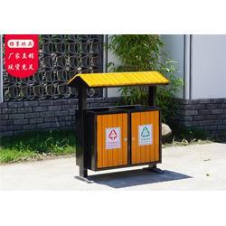 钢木垃圾桶果皮箱,永康绿享环卫,重庆钢木垃圾桶图片