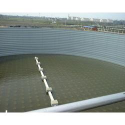 大型粮食钢板仓-裕盛钢板仓建设-大型熟料钢板仓图片