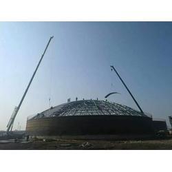 广西大型焊接钢板仓、裕盛钢板库建设、大型玉米钢板仓图片