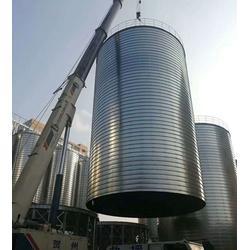 大型焊接钢板仓、裕盛钢板仓建设图片