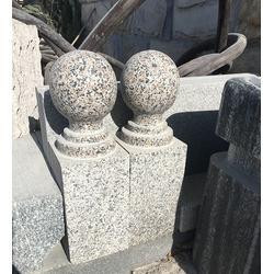 多利石材(图)、五莲红挡车柱、挡车柱图片