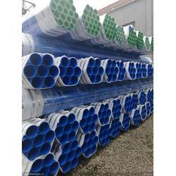 曲靖涂塑钢管-选择海马制造-螺旋大口径内外涂塑钢管涂塑图片
