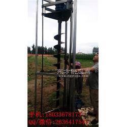 挖坑机电动型二轮电动挖坑机电动打眼机 推车式打坑机图片