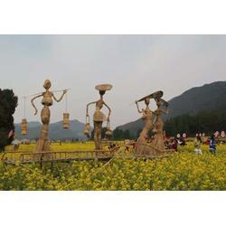 福州稻草雕塑-厂家供应稻草雕塑-鹤顶红雕塑(优质商家)图片
