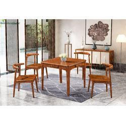 清漾橡胶木餐桌椅-厦门清漾橡胶木餐桌-瑞升餐桌椅款式齐全图片