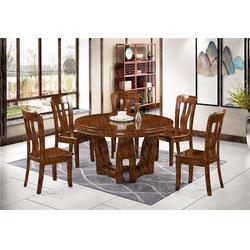 中式橡胶木餐桌品牌加盟|浙江瑞升全国招商中|橡胶木餐桌图片