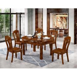 陕西实木餐桌-瑞升餐桌椅厂家直销-中式实木餐桌品牌排行
