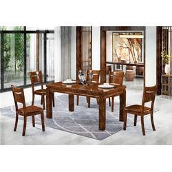 实木圆桌_瑞升餐桌椅款式齐全_美式实木圆桌报价图片