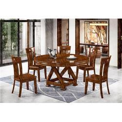美式圆台餐桌定制-瑞升餐桌椅款式齐全-广东圆台餐桌图片