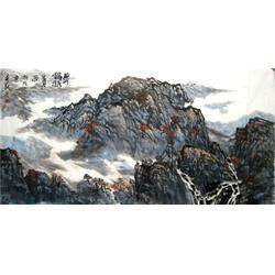 客厅山水画国画、  镇江集古斋、国画图片