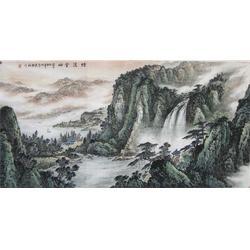 镇江集古斋 (图)、大幅山水画、徐州山水字画图片