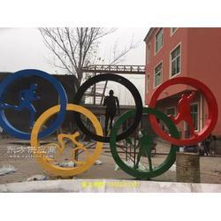 彩色不锈钢雕塑五环雕塑广场雕塑图片