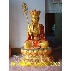 玻璃钢贴金佛像地藏王菩萨雕塑厂家就选康大雕塑图片