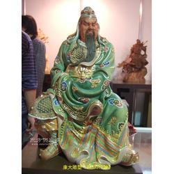 玻璃钢彩绘武财神雕塑佛像厂家定制图片