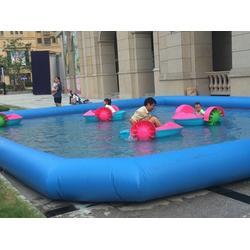 移动PVC充气水池方形游泳池图片