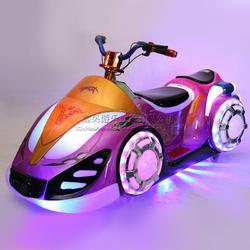 公园电动幻影摩托车广场儿童彩灯音乐遥控电瓶车可坐人图片