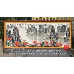 满江红艺术馆订制山水万紫千红总是春图客厅会议室办公室大厅吸音挂毯中式家居装饰壁挂毯图片