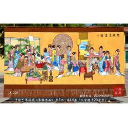 订制中国古代名画红楼梦人物琴棋书画图手绘艺术挂毯客厅会所装饰挂毯图片
