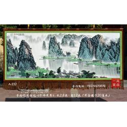 漓江风情国画图客厅装饰壁挂毯时尚家居装饰壁毯画现代装饰画图片