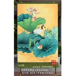 订制荷花仙鹤图客厅装饰壁挂毯竖幅中国画玄关书房中式家居装饰壁挂毯收藏图片