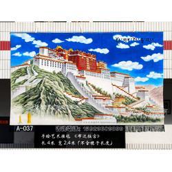 订制手工挂毯挂毯会议室客厅宾馆酒店大厅布达拉宫图吸音材质藏文化装饰壁毯画旅游纪念品藏式装饰品图片