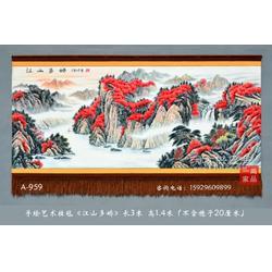 订制大型装饰壁挂毯多娇图 手绘艺术挂毯吸音材质壁毯装饰画图片