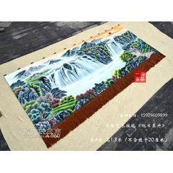 订制客厅装饰壁挂毯国画旭日东升图中式家居装饰壁毯画手绘艺术挂毯图片