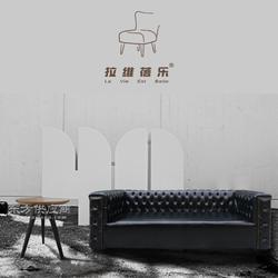 供应烘焙店沙发料理店实木沙发定制图片