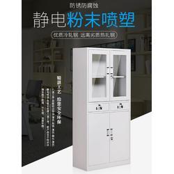 武汉铁皮文件柜带锁矮柜【加厚】钢制固彩gc-w06【带锁】图片