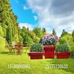防腐木花盆制花箱厂家园林绿化种植木箱图片