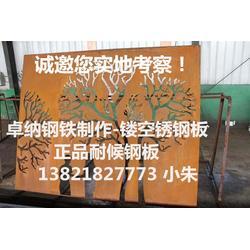 耐候板 卓纳钢铁锈钢板 耐候板表图片