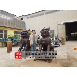 大型铜麒麟供应、青海大型铜麒麟、文禄雕塑(查看)图片