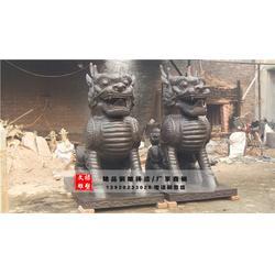 铜麒麟厂家|陕西铜麒麟|文禄雕塑(查看)图片