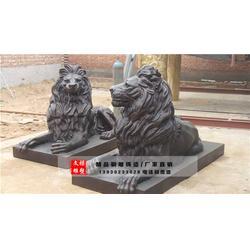 3米铜狮子雕塑-天津铜狮子雕塑-文禄雕塑厂图片